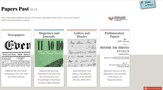 papers past website